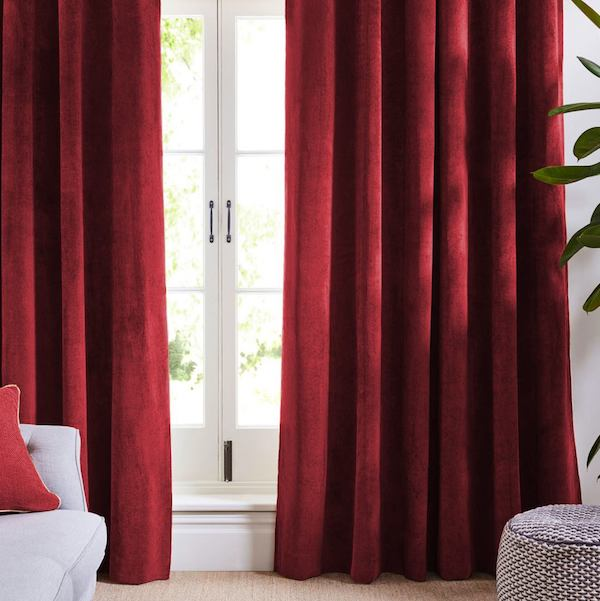 worn copper c elm curtain products textured velvet upholstery west