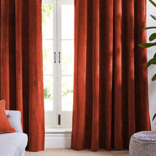 Red Orange Velvet Curtains-Koikaa