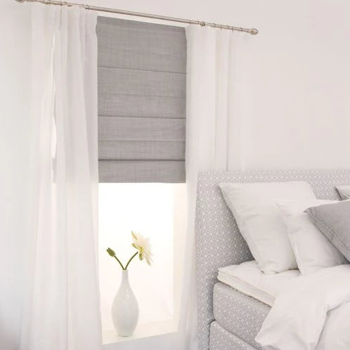 Letus Gray Roman Blind