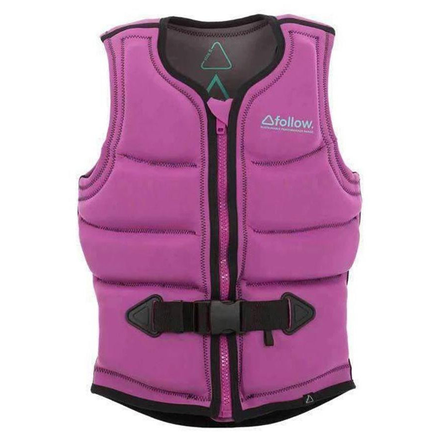 2018 FOLLOW S.P.R LADIES CE VEST Pink Life Jacket - Womens - Trojan Wake Ski Snow