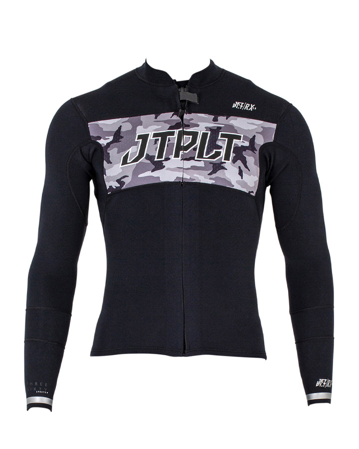Jetpilot RX Race Jacket - Black/Camo - 2022 Race Jackets - Trojan Wake Ski Snow
