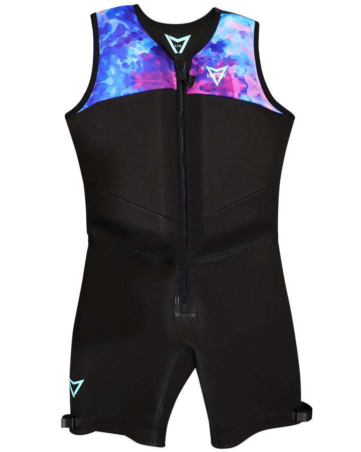 VORTEX WOMENS BAREFOOT SUIT - Galaxy / Black - 2020 Barefoot Suits - Womens - Trojan Wake Ski Snow
