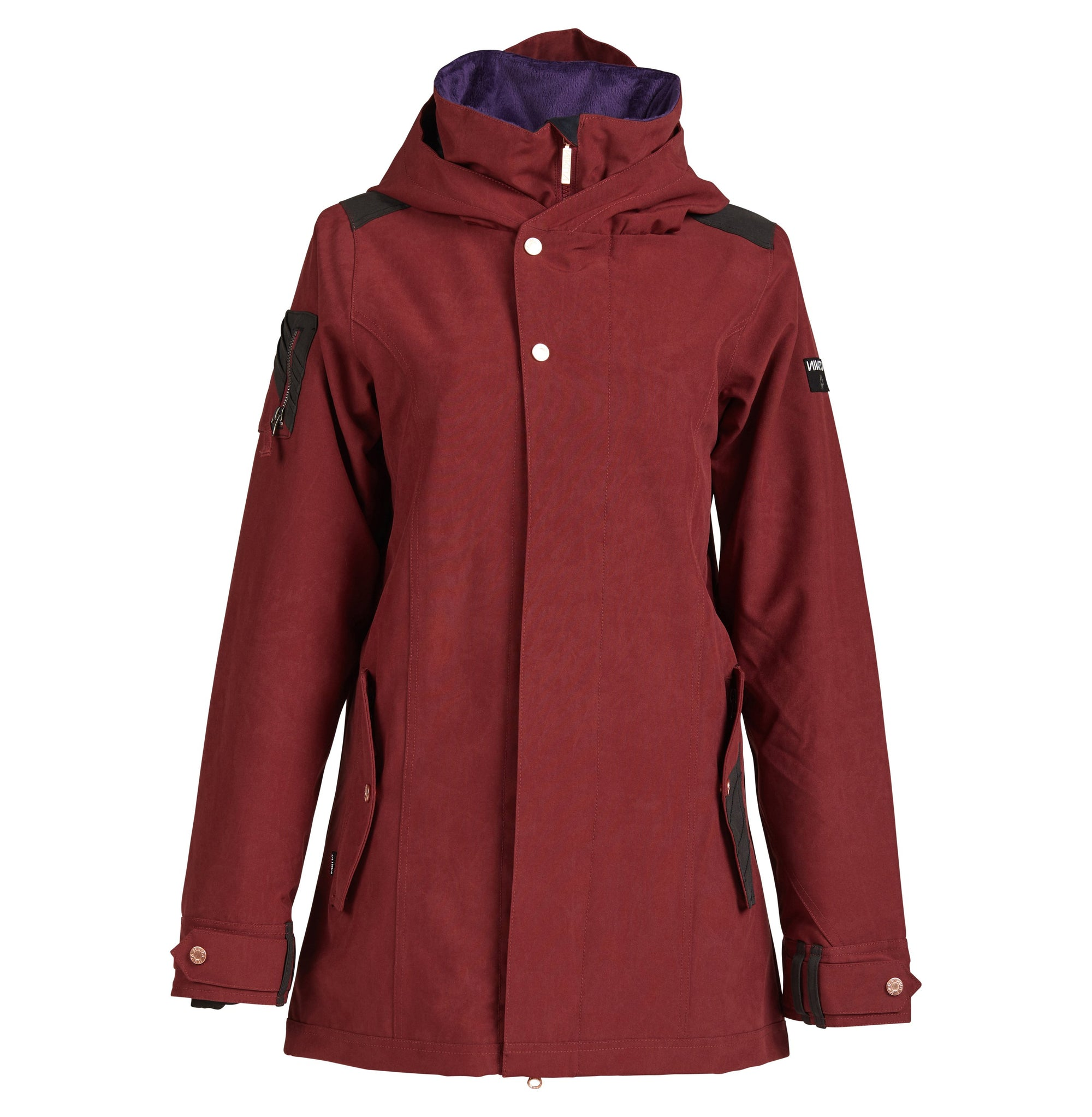 Nikita Womens Banyon Jacket - Merlot - 2020 Snow Jackets - Womens - Trojan Wake Ski Snow