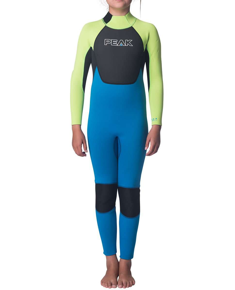 Peak Junior Girls Energy 3/2mm FL Wetsuit Steamer-Steamers - Kids-PEAK-8-Trojan Wake Ski Snow