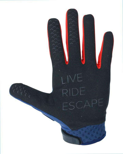 JETPILOT RX SUPER LITE GLOVE - NAVY/RED - 2021 JETSKI GLOVES - Trojan Wake Ski Snow