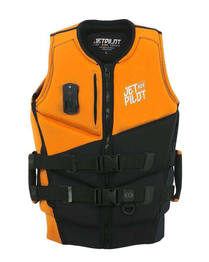 JETPILOT MATRIX PRO PWC NEO VEST - ORANGE - 2021 Life Jacket - Mens - Trojan Wake Ski Snow