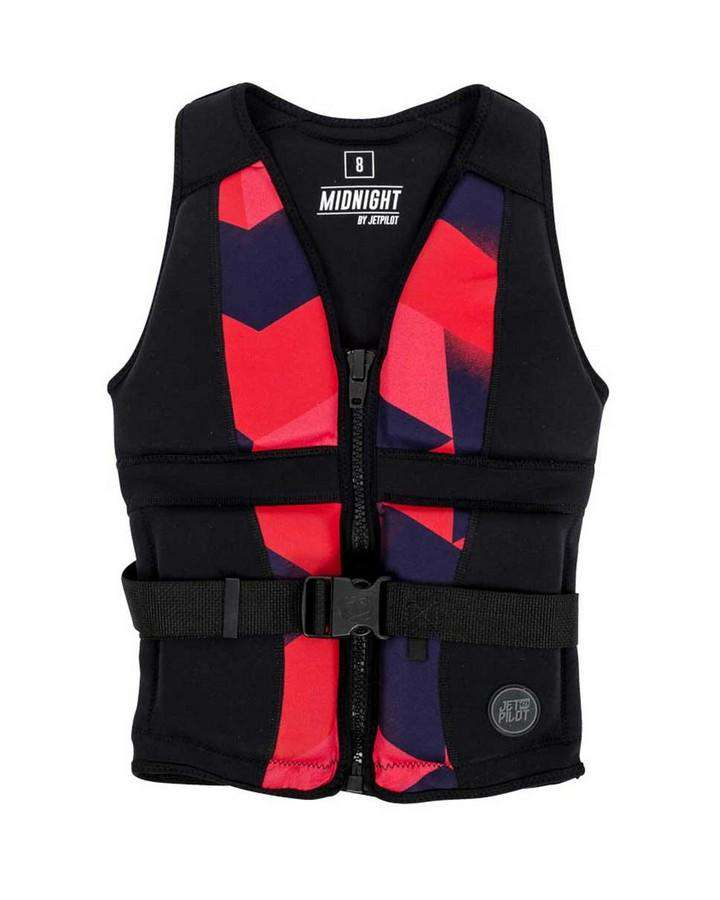 JETPILOT MIDNIGHT SEG NEO VEST BLACK/CORAL - 2019 Life Jacket - Womens - Trojan Wake Ski Snow
