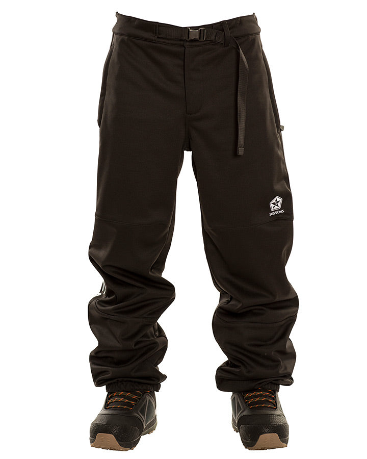 Sessions Mens Bracket Jogger Pant - Black - 2021 Snow Pants - Mens - Trojan Wake Ski Snow