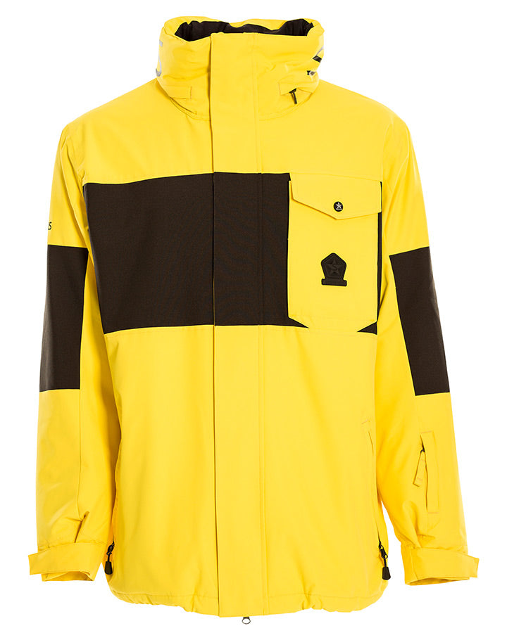 Sessions Mens Annex Jacket - Yellow - 2021 Snow Jackets - Mens - Trojan Wake Ski Snow