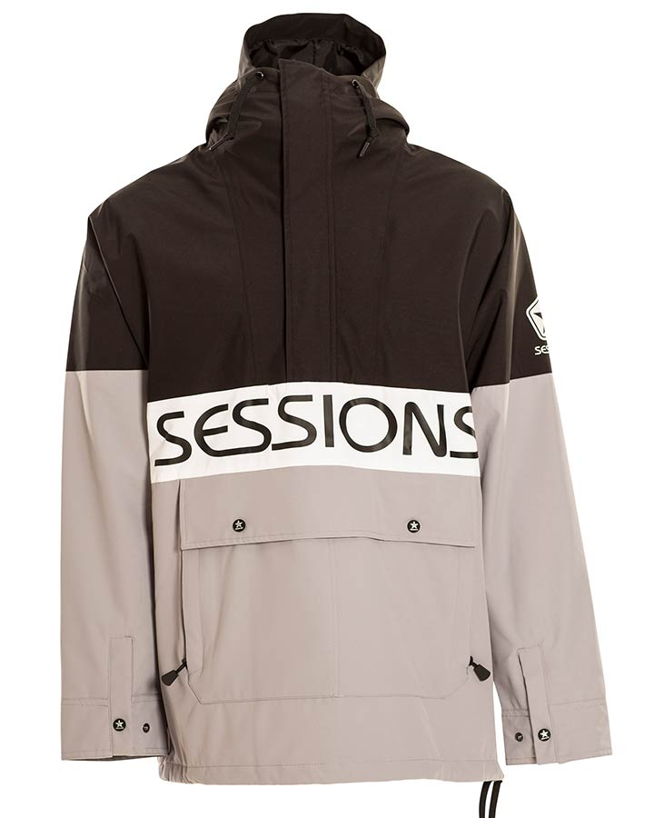 Sessions Mens Chaos Jacket - Black - 2021 Snow Jackets - Mens - Trojan Wake Ski Snow