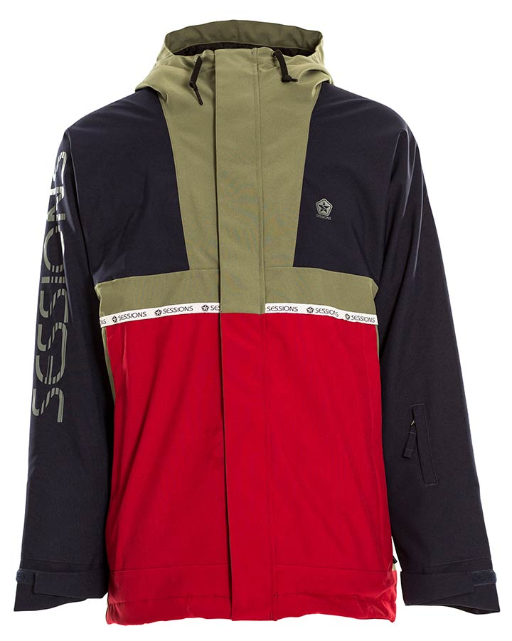 Sessions Mens Scout Jacket - Brick - 2021 Snow Jackets - Mens - Trojan Wake Ski Snow