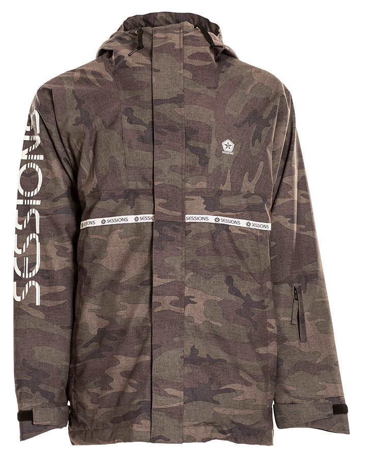 Sessions Mens Scout Jacket - Camo - 2021 Snow Jackets - Mens - Trojan Wake Ski Snow
