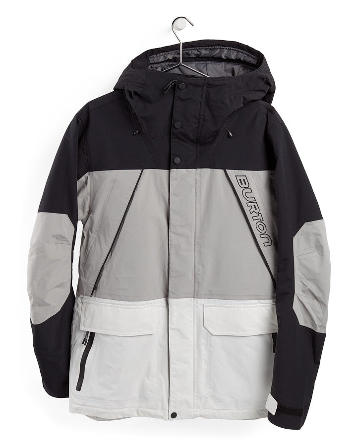 Burton Mens Breach Insulated Jacket - True Black/Iron Grey/Stout White - 2021 Snow Jackets - Mens - Trojan Wake Ski Snow