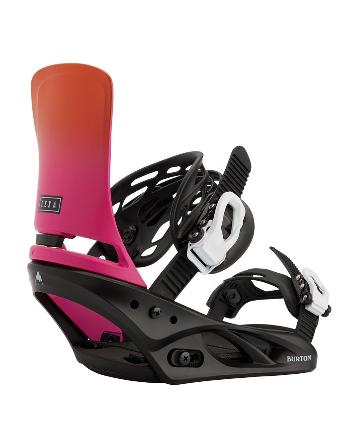 Burton Lexa Re:Flex Snowboard Binding - Sunset/Black - 2021 Snowboard Bindings - Women - Trojan Wake Ski Snow