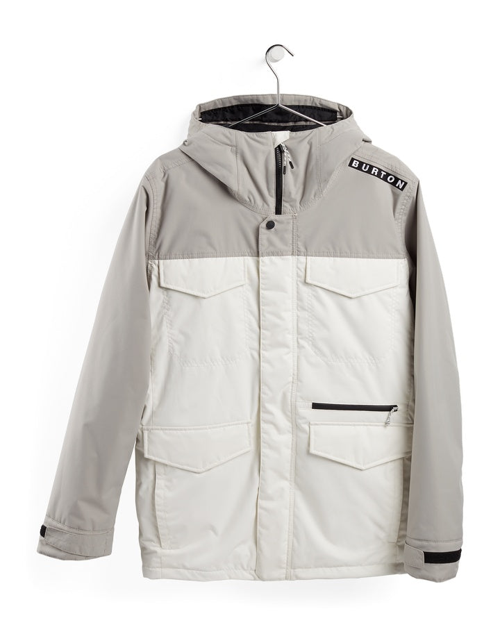 Burton Mens Covert Jacket - Iron Grey/Stout White - 2021 Snow Jackets - Mens - Trojan Wake Ski Snow