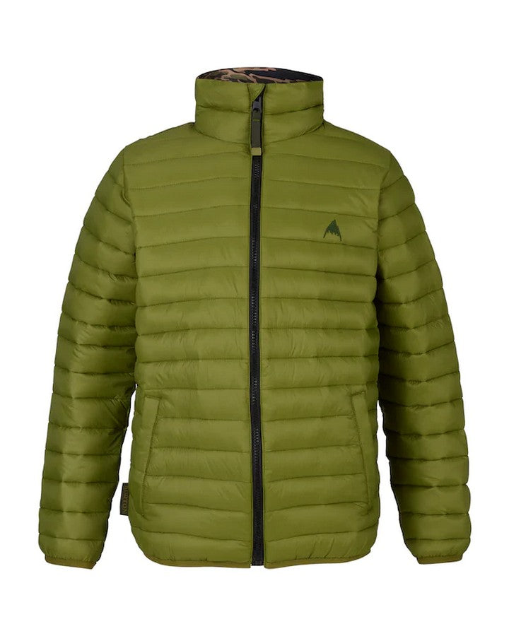 Burton Youth Flex Puffy Jacket - Olive Branch/Olive Branch Beast Hoodies/Pullovers - Youth - Trojan Wake Ski Snow