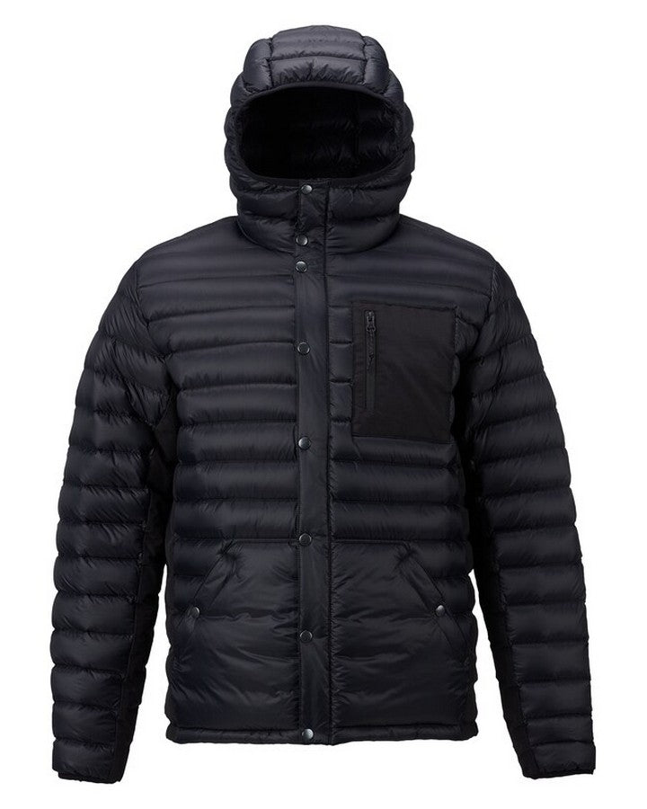 Burton Mens Evergreen Hooded Down Insulated - True Black Hoodies/Pullovers - Mens - Trojan Wake Ski Snow