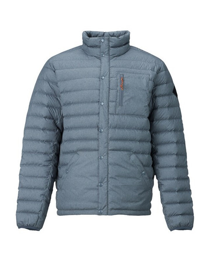 Burton Mens Evergreen Down Insulated - La Sky Heather Hoodies/Pullovers - Mens - Trojan Wake Ski Snow