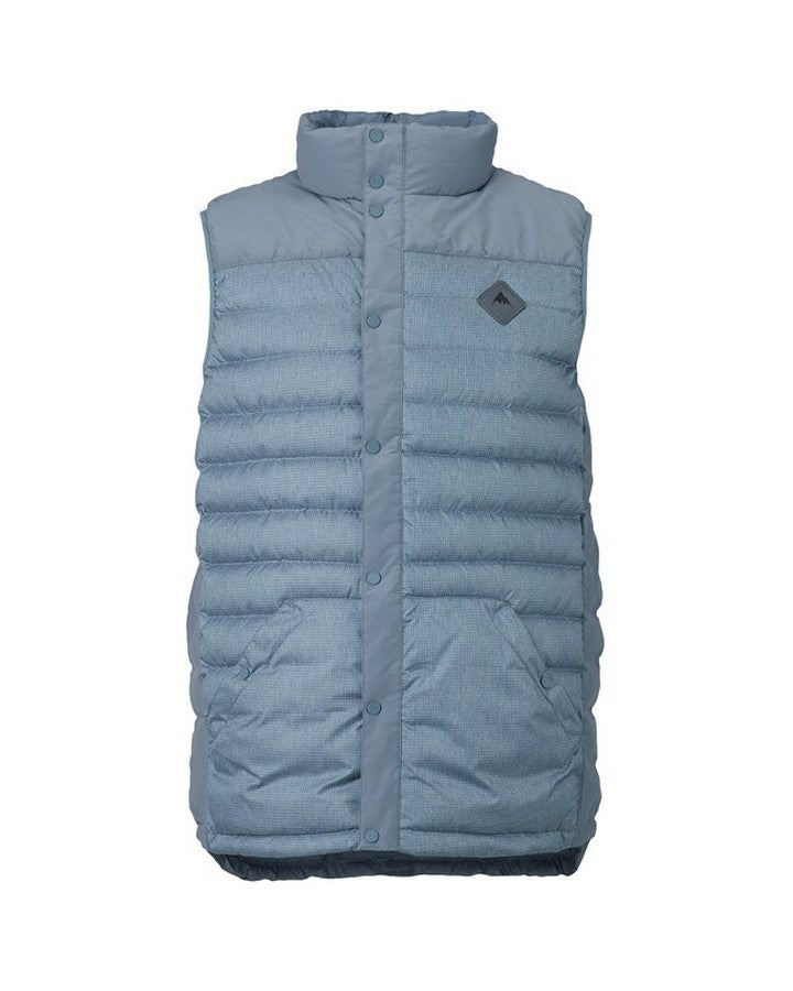 Burton Mens Evergreen Down Vest - La Sky Heather Hoodies/Pullovers - Mens - Trojan Wake Ski Snow