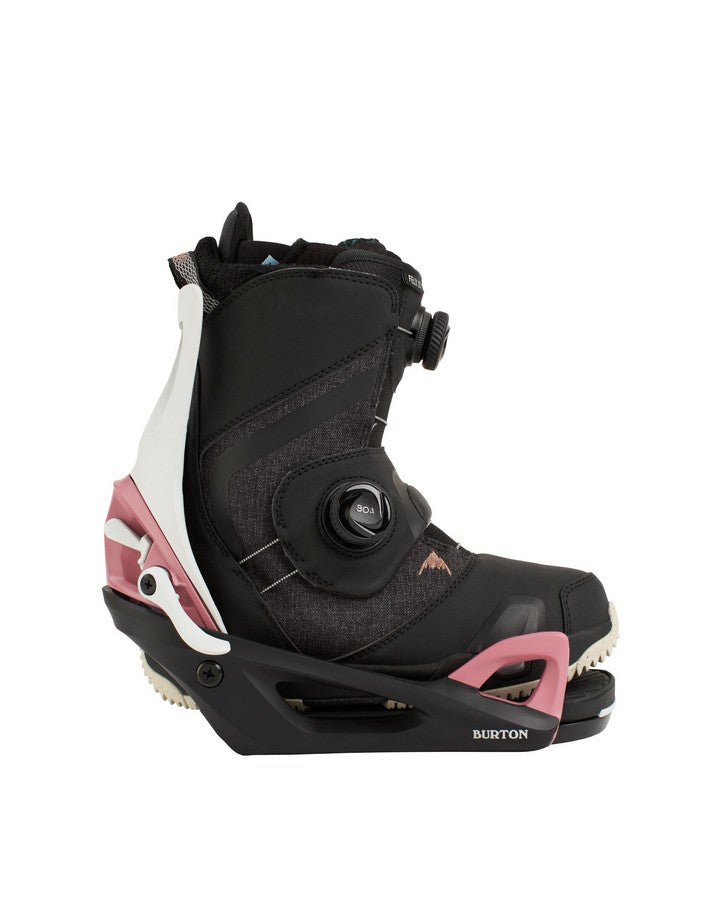 Burton Womens Felix Step On® Boots with Step On® Bindings - Black/Rose - 2021 Snowboard Boots - Women - Trojan Wake Ski Snow
