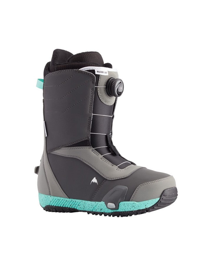 Burton Ruler Step On® Boot - Gray/Teal - 2021 Snowboard Boots - Men - Trojan Wake Ski Snow