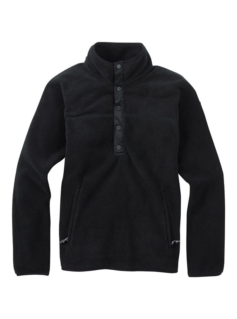 Burton Women's Hearth Fleece Pullover - True Black - 2021 Hoodies/Pullovers - Women - Trojan Wake Ski Snow