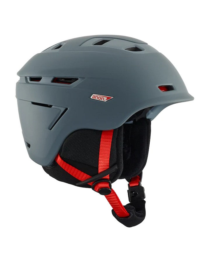 Anon Echo Mips - Gray Snow Helmets - Mens - Trojan Wake Ski Snow