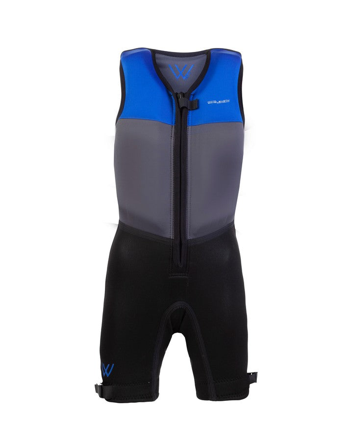 Wavelength Junior Buoyancy Suit - Electric Blue - 2021 Bouyancy Suits - Kids - Trojan Wake Ski Snow
