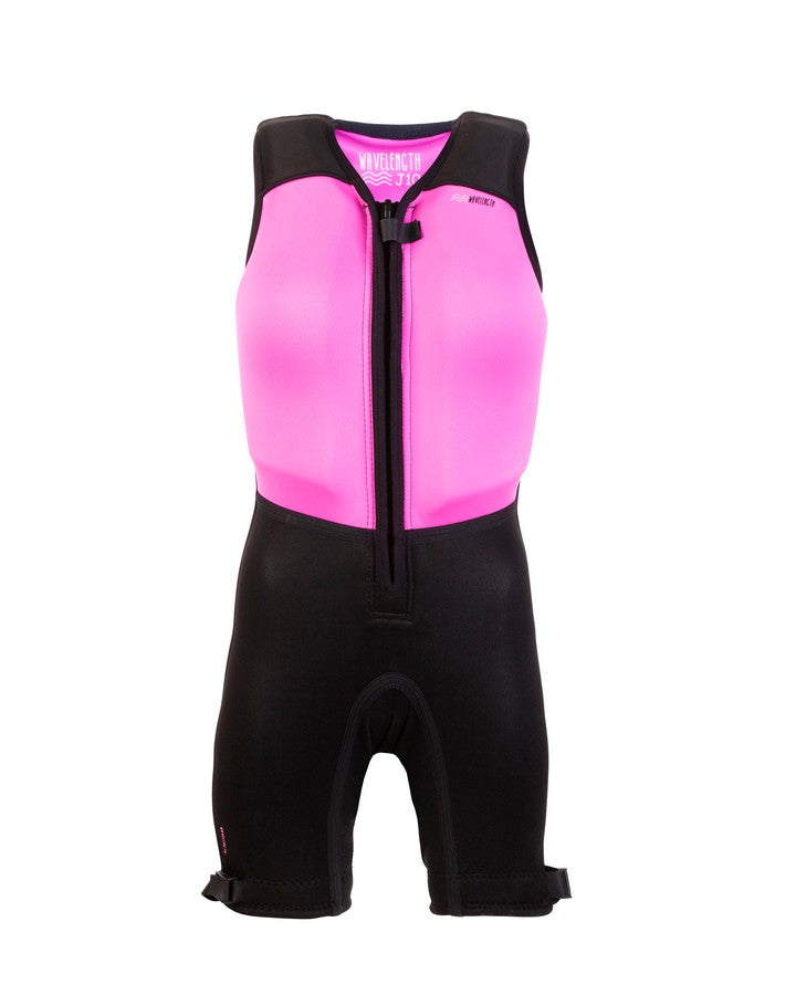 Wavelength Junior Buoyancy Suit - Flamingo Pink - 2021 Bouyancy Suits - Kids - Trojan Wake Ski Snow