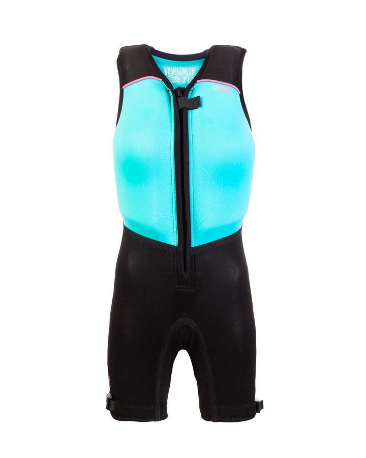 Wavelength Junior Buoyancy Suit - Hawaiian Blue - 2021 Bouyancy Suits - Kids - Trojan Wake Ski Snow