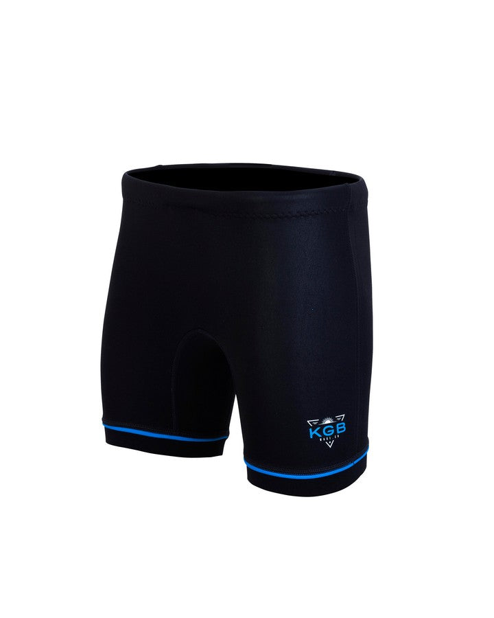 KGB Junior Short - Electric Blue - 2021 Wetsuit Shorts - Kids - Trojan Wake Ski Snow