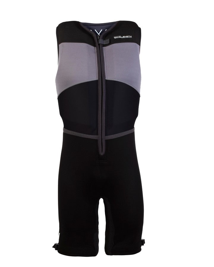 Wavelength Mens Buoyancy Suit - Charcoal - 2021 Bouyancy Suits - Mens - Trojan Wake Ski Snow