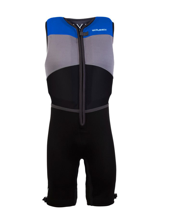 Wavelength Mens Buoyancy Suit - Electric Blue - 2021 Bouyancy Suits - Mens - Trojan Wake Ski Snow
