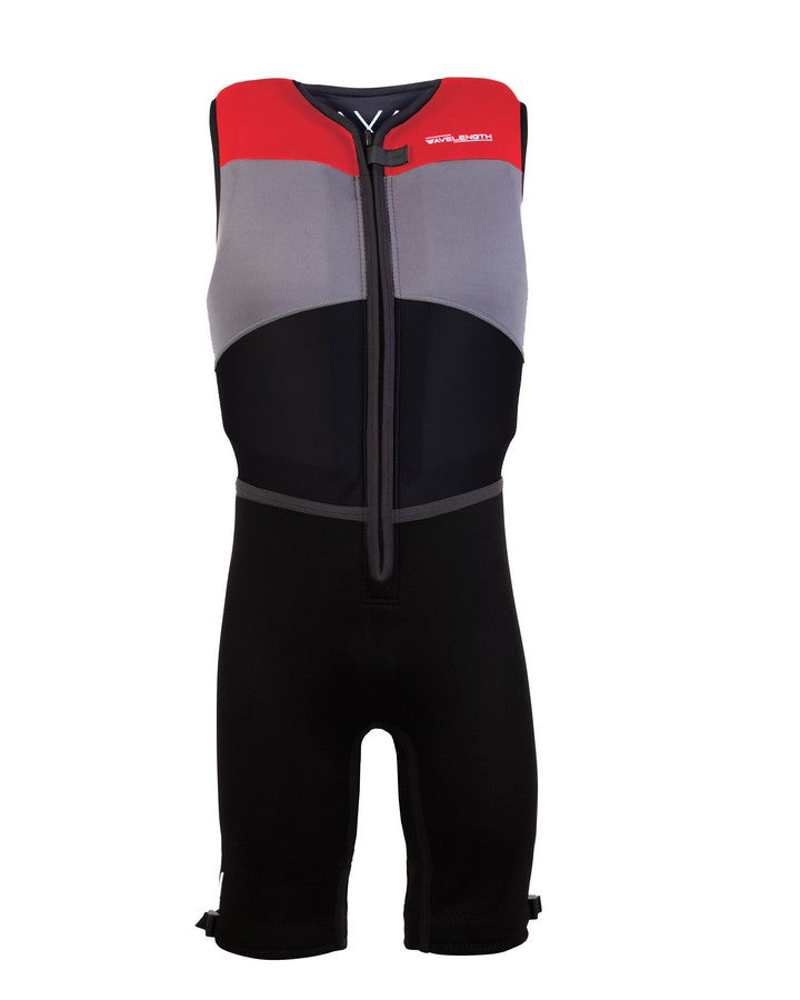 Wavelength Mens Buoyancy Suit - Viper Red - 2021 Bouyancy Suits - Mens - Trojan Wake Ski Snow