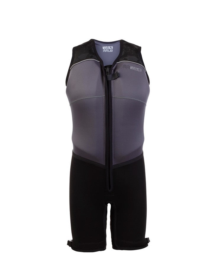 Wavelength Womens Buoyancy Suit - Dark Ash - 2021 Bouyancy Suits - Womens - Trojan Wake Ski Snow