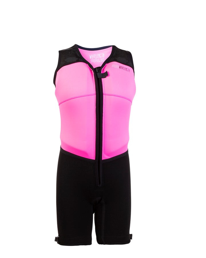 Wavelength Womens Buoyancy Suit - Paradise Pink - 2021 Bouyancy Suits - Womens - Trojan Wake Ski Snow