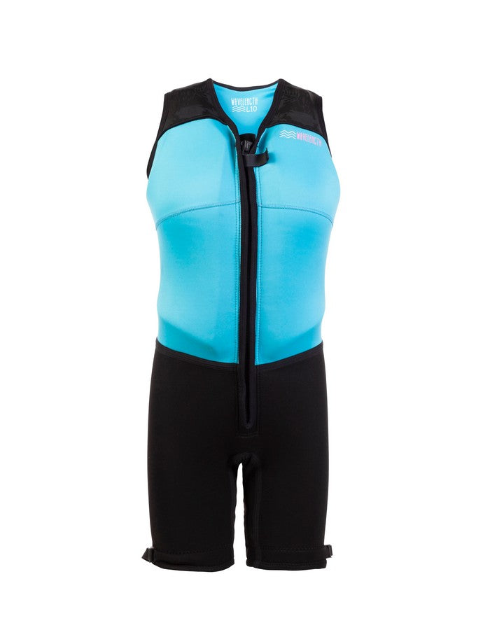 Wavelength Womens Buoyancy Suit - Hawaiian Blue - 2021 Bouyancy Suits - Womens - Trojan Wake Ski Snow