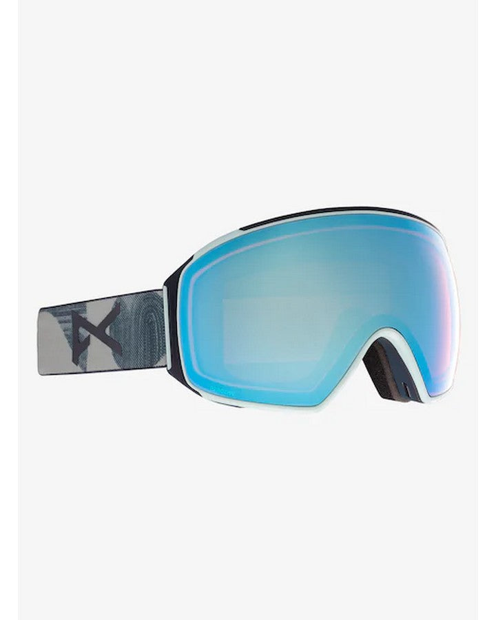 Anon M4 Mens Goggle Toric + Bonus Lens + MFI Face Mask - Asian Fit - Ty Williams/Perceive Variable Blue - 2021 Snow Goggles - Mens - Trojan Wake Ski Snow