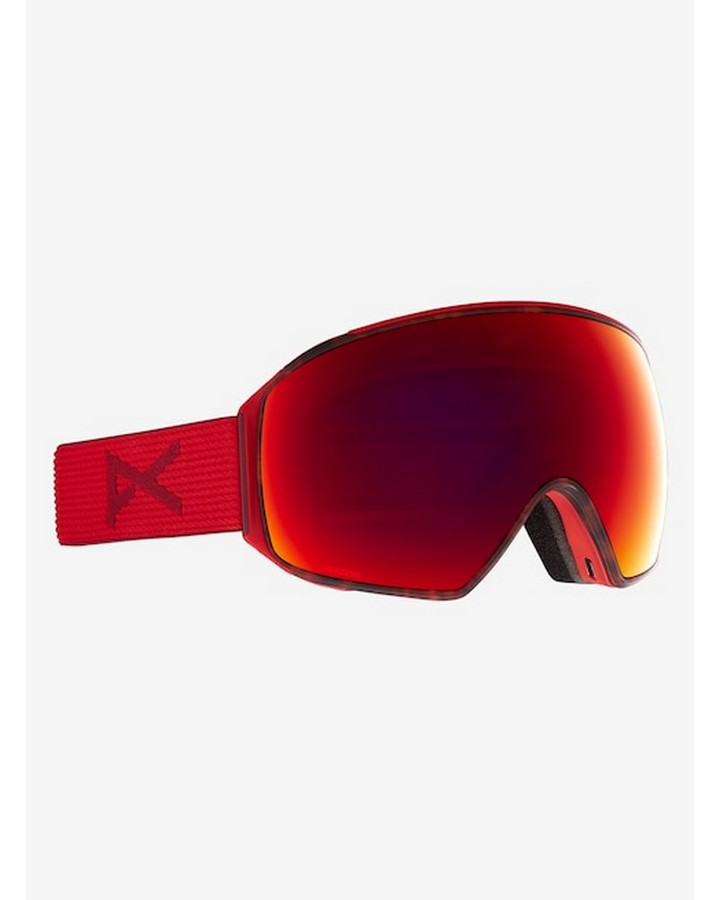 Anon M4 Mens Goggle Toric + Bonus Lens + MFI Face Mask - Asian Fit - Redtort/Perceive Sun Red - 2021 Snow Goggles - Mens - Trojan Wake Ski Snow