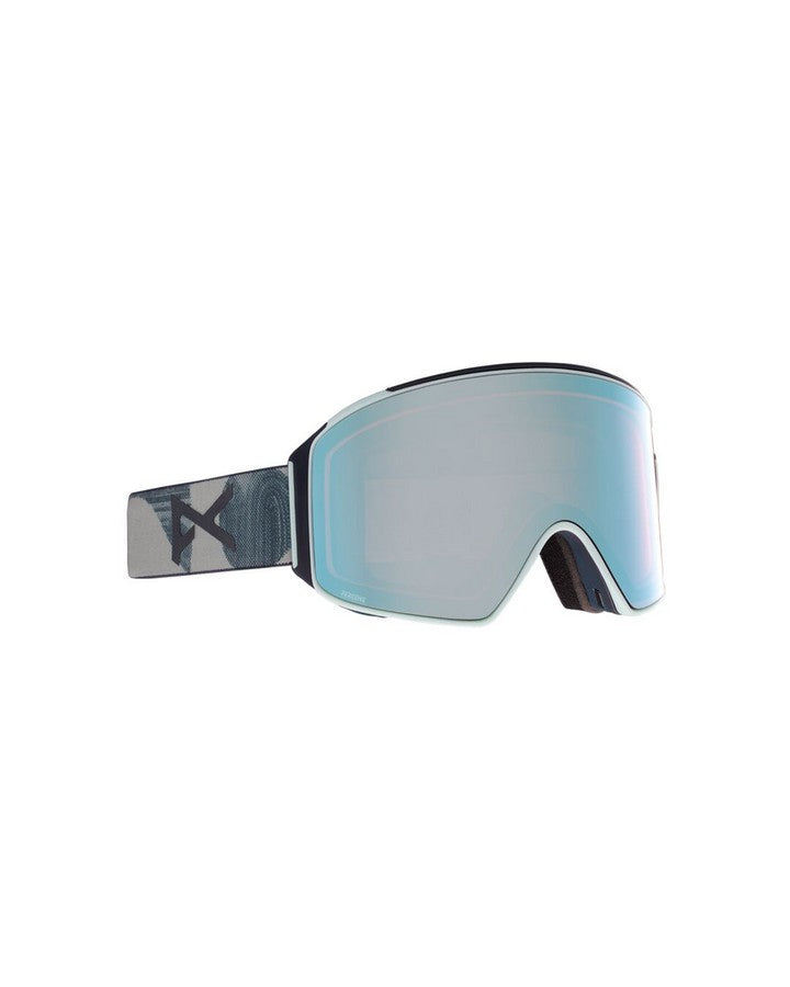 Anon M4 Mens Goggle Cylindrical + Bonus Lens + MFI Face Mask - Ty Williams/Perceive Variable Blue - 2021 Snow Goggles - Mens - Trojan Wake Ski Snow