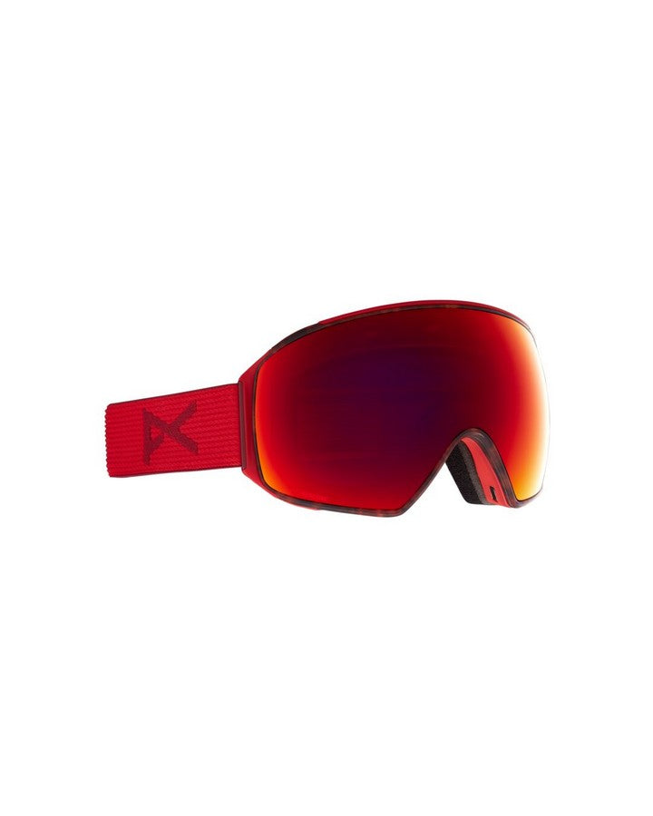 Anon M4 Mens Goggle Toric + Bonus Lens + MFI Face Mask - Redtort/Perceive Sun Red - 2021 Snow Goggles - Mens - Trojan Wake Ski Snow
