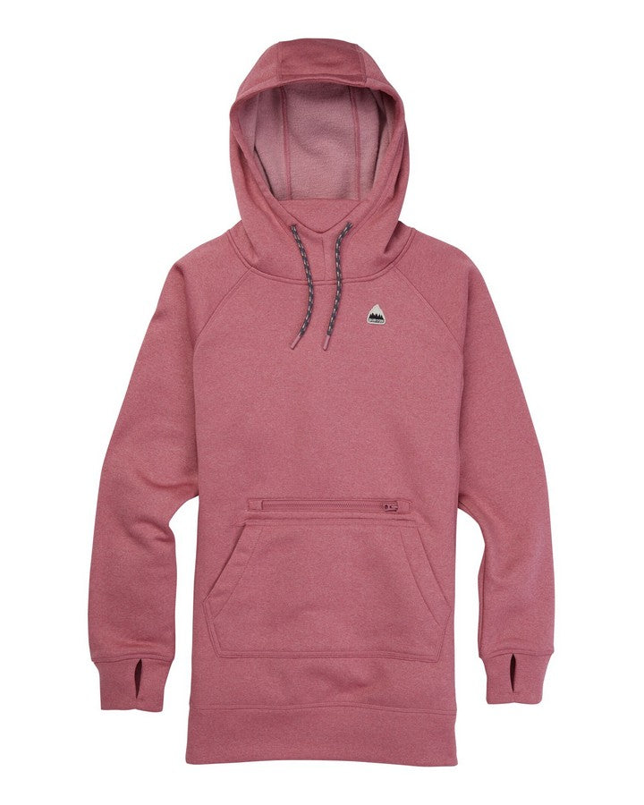 Burton Oak Long Pullover - Rosebud Heather Hoodies/Pullovers - Women - Trojan Wake Ski Snow