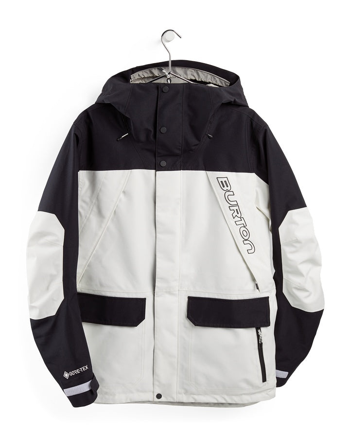 Burton Mens GORE-TEX Breach Jacket - Stout White/True Black - 2021 Snow Jackets - Mens - Trojan Wake Ski Snow