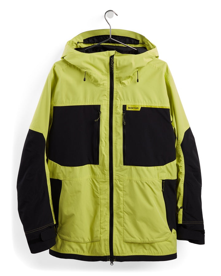 Burton Mens Frostner Jacket - Limade/True Black - 2021 Snow Jackets - Mens - Trojan Wake Ski Snow