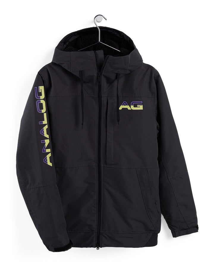 Burton Analog Greed Jacket - Phantom - 2021 Snow Jackets - Mens - Trojan Wake Ski Snow