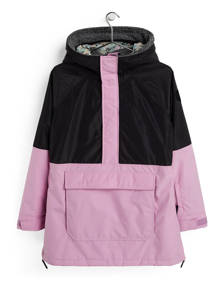 Burton Womens Larosa Anorak Jacket - True Black/Orchid - 2021 Snow Jackets - Womens - Trojan Wake Ski Snow