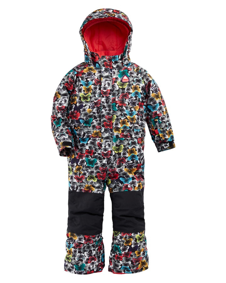 Burton Toddlers' One Piece - Multicolor Butterfly - 2021 Snow Pants - Youth - Trojan Wake Ski Snow