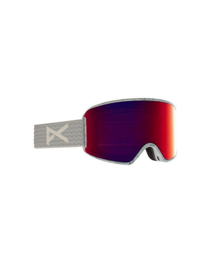 Anon WM3 Womens Goggle + Bonus Lens + MFI Face Mask - Gray/Perceive Sun Red - 2021 Snow Goggles - Womens - Trojan Wake Ski Snow