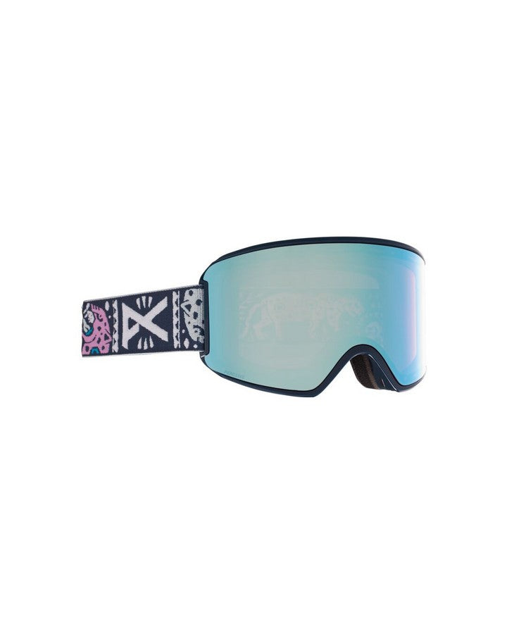 Anon WM3 Womens Goggle + Bonus Lens + MFI Face Mask - Noom/Perceive Variable Blue - 2021 Snow Goggles - Womens - Trojan Wake Ski Snow