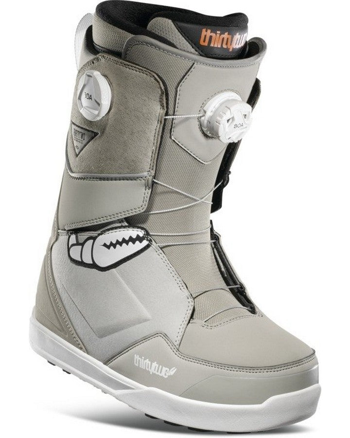 ThirtyTwo Lashed Double BOA Crab Grab Snowboard Boots - Grey - 2021 Snowboard Boots - Men - Trojan Wake Ski Snow